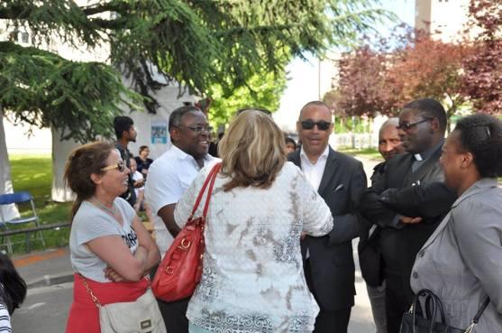 Visite de la kermesse de Saint-Michel du Mont-Mesly en compagnie de Laurent Cathala.