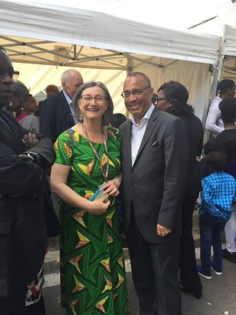Visite de la kermesse de Saint-Michel du Mont-Mesly en compagnie de Laurent Cathala