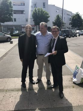 En campagne à Orly, j'ai reçu la visite de mon ami et soutien Daniel Guérin, vice-président du Conseil départemental.