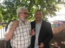 A la fête de la Maison pour Tous de la Haye aux Moines, sous un magnifique soleil. J'y ai retrouvé notamment Alain Dukan, premier maire-adjoint de Créteil et coordinateur de ma campagne.