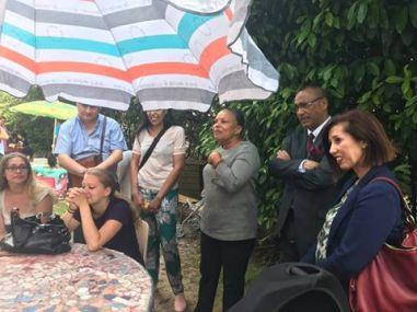Visite de soutien de Christiane Taubira.